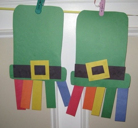 st. patricks day hats 15 Kids St. Patricks Day Crafts