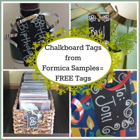 DIY Chalkboard Tags from Formica Samples