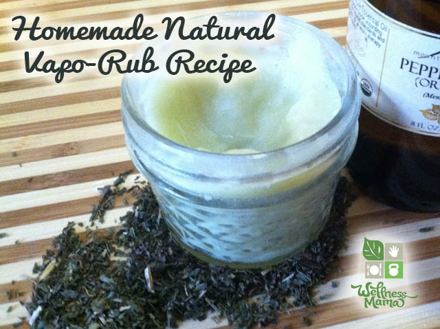 How to make your own natural Vapor Rub for illnesses {12 Skin Care Recipes Using Coconut Oil}