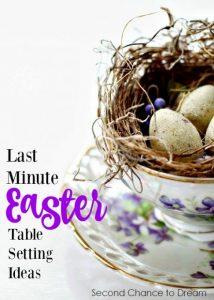Last Minute Easter Table Setting Ideas