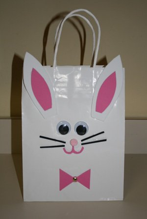 easter bunny bag craft