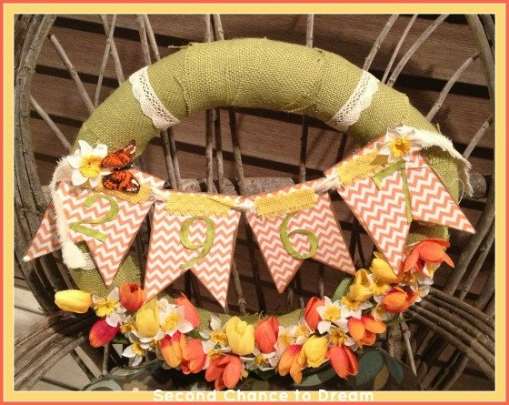Second Chance to Dream: DIY Spring House Number Wreath Tutorial