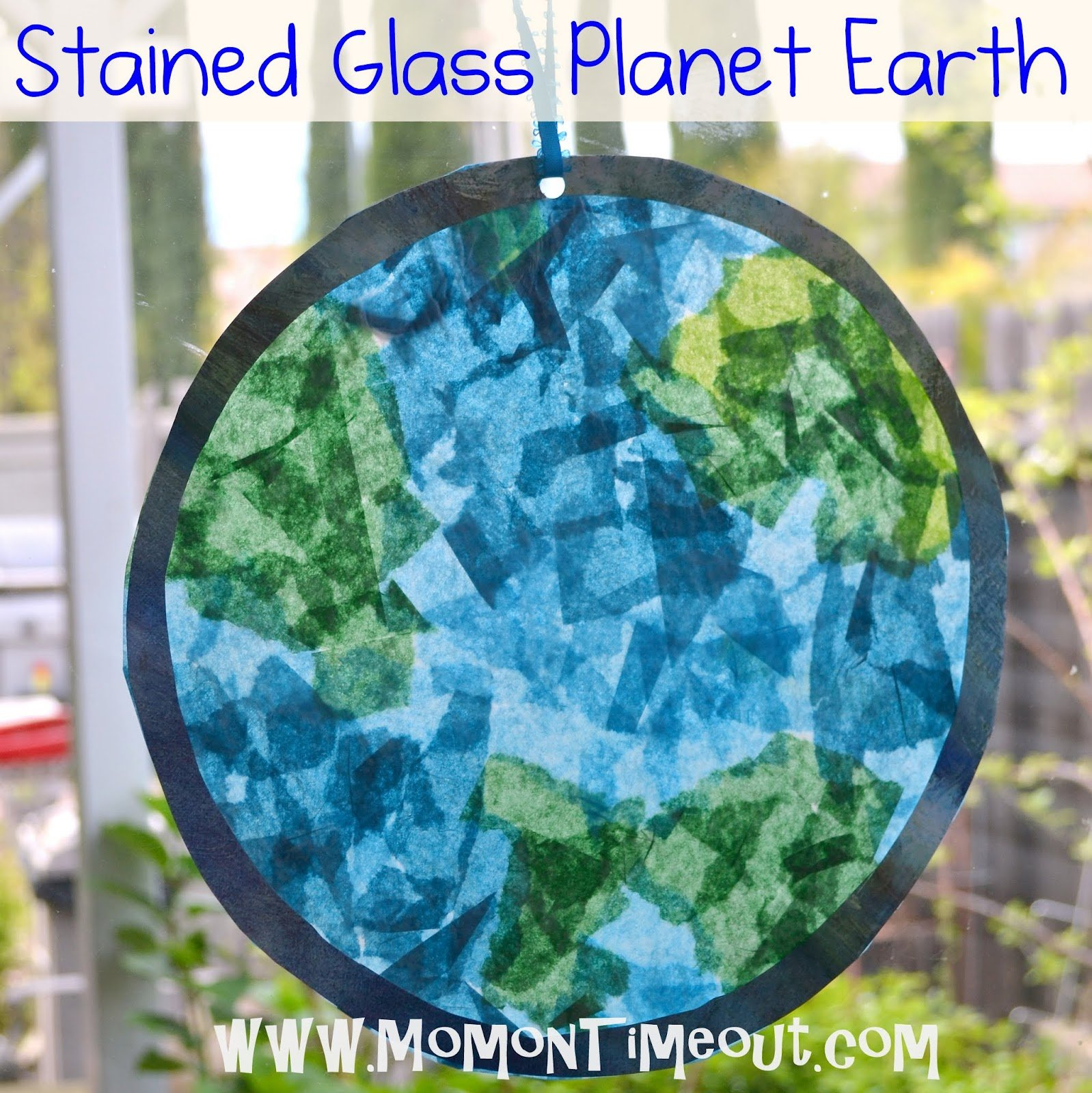 Stained Glass Planet Earth for Earth Day 15 Kids Earth Day Crafts