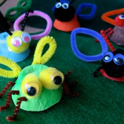 egg cup insects craft photo 350 aformaro 024 rdax 65 15 Kids Earth Day Crafts
