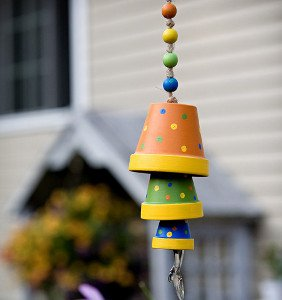 Painted Pot Wind Chime