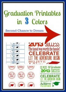 {Free Graduation Printables in 3 Colors}