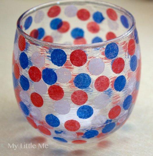 patriotic candle holder