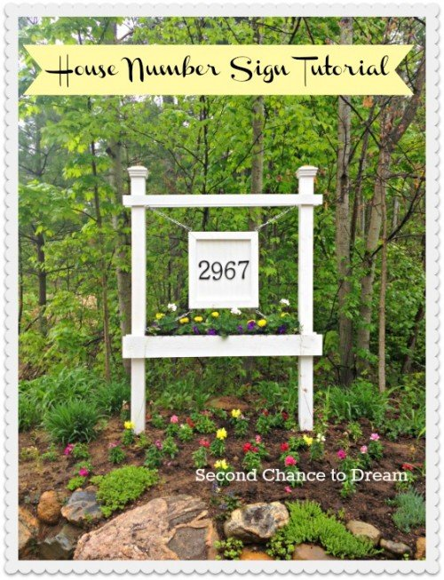 Second Chance to Dream: House Number Sign