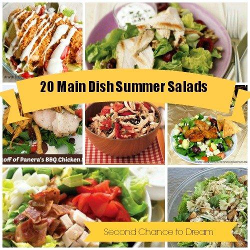 {20 Main Dish Summer Salad Recipes}