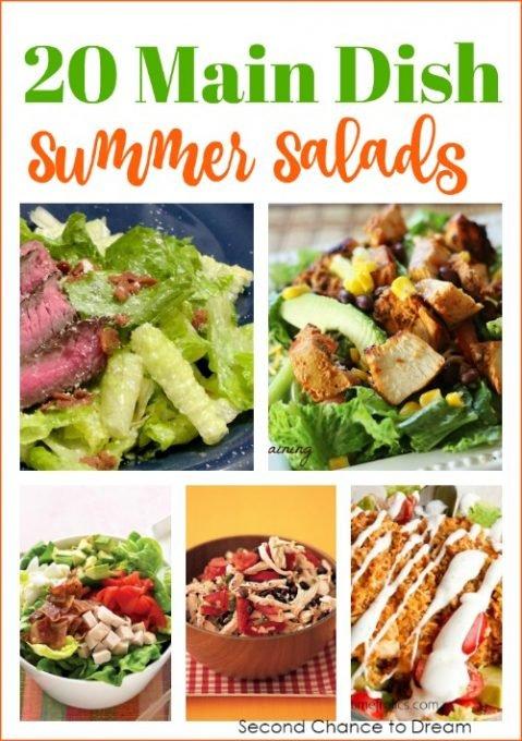 Second Chance to Dream: 20 Main Dish Summer Salads #recipes #salads