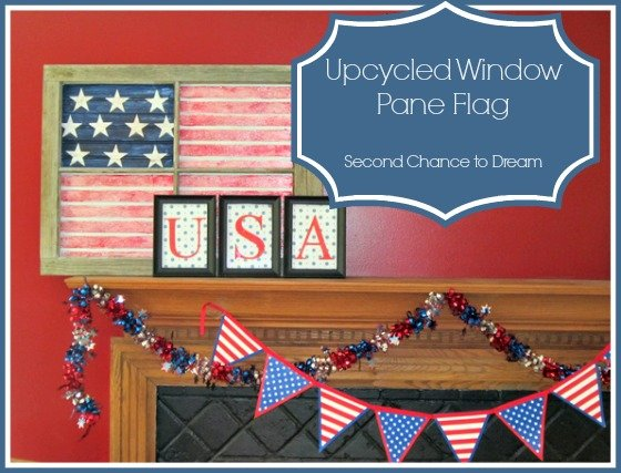 Second Chance to Dream: Upcycled Window Pane Flag