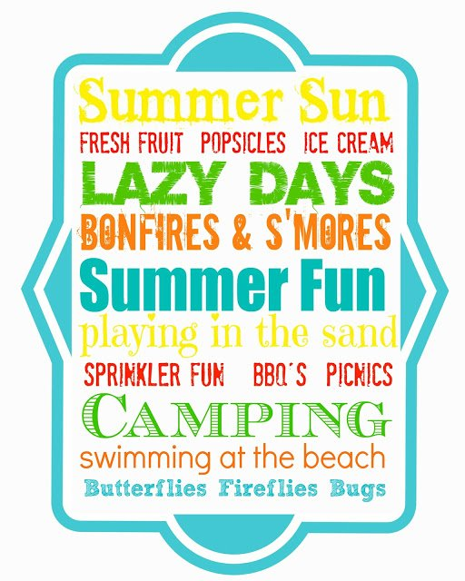 Sumer+Fun+multi+8x10 Summer Mantel + Free Printable