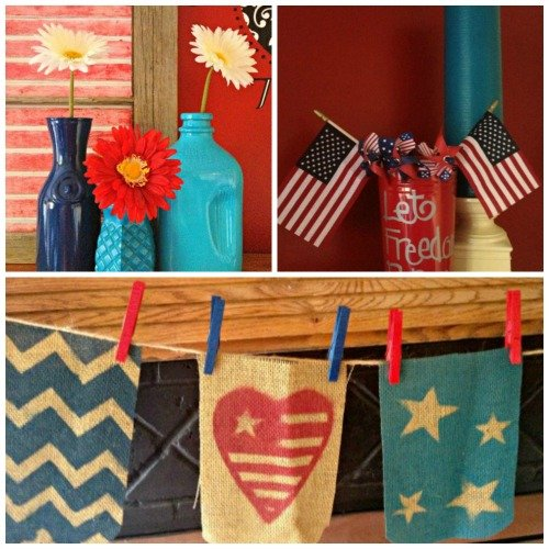 Second Chance to Dream: Red, White & Blue Burlap Bunting