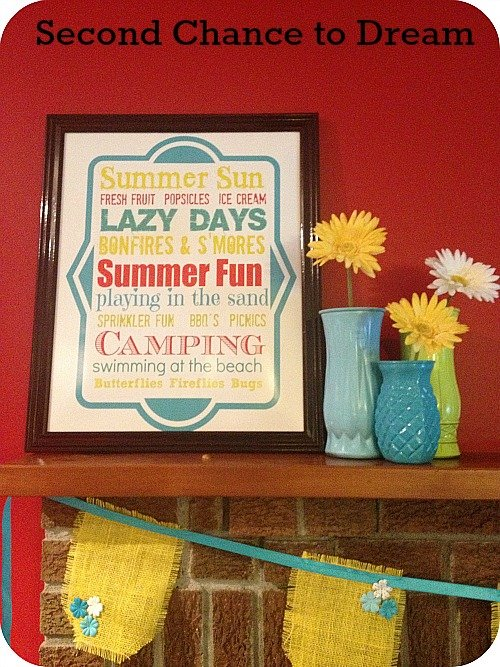summer+mantel+2 Summer Mantel + Free Printable