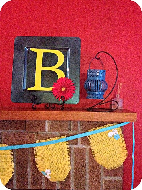 summer+mantel+3 Summer Mantel + Free Printable
