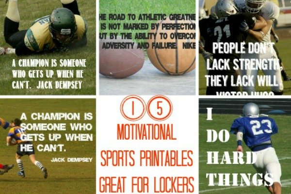 Second Chance to Dream: 15 Motivational Sports Printables