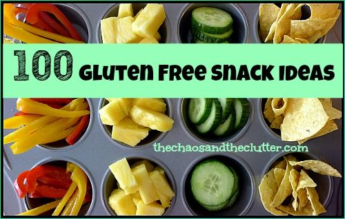 Printable List of Gluten Free Snack Ideas