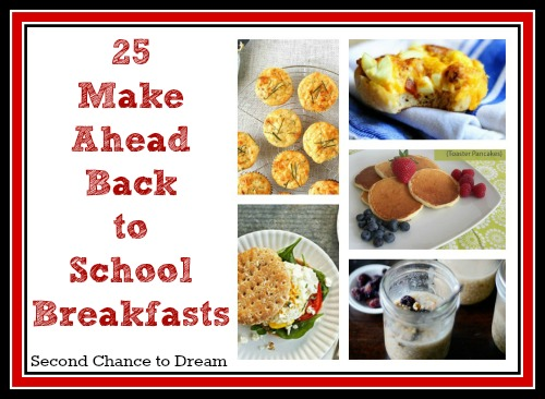 Quick and easy breakfast recipes for school