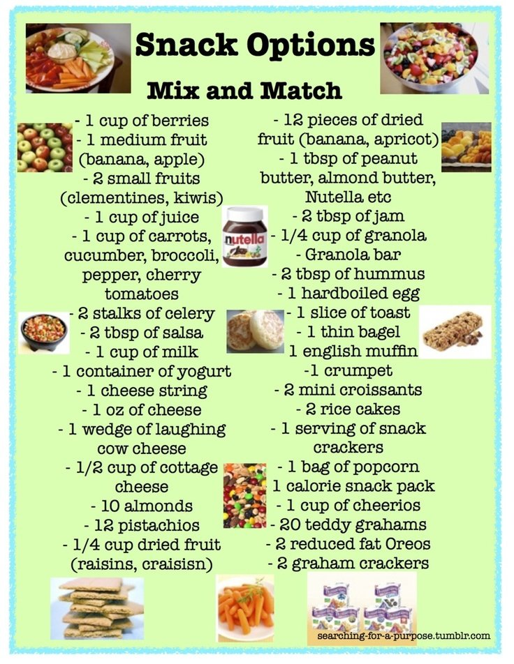 Going to print out this list of healthier snacks and hang it on my fridge for when Im starving lol