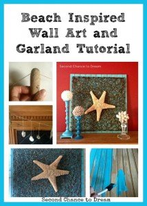 Beach Inspired Wall Art and Garland Tutorial