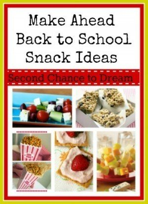 Second Chance to Dream: Make Ahead School Snack Ideas