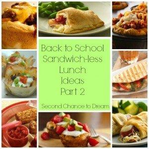 Back to School Sandwich-Less  Lunch Ideas 2
