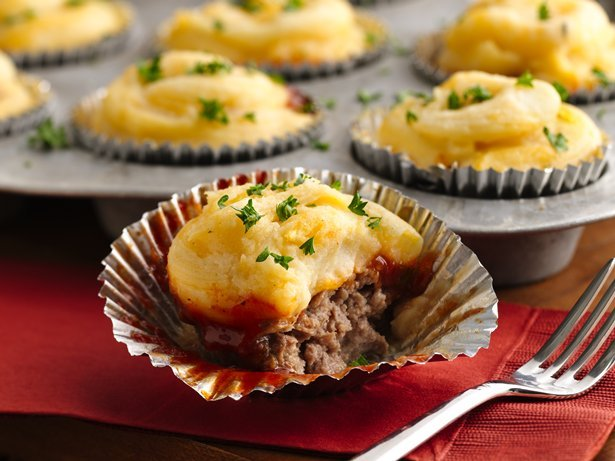 Meat Loaf and Potato Cupcakes
