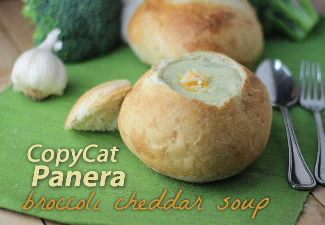 Have you always wanted to make the Broccoli Cheddar Soup from Panera? Try this recipe, you'll love it and it hits the mark: CopyCat Panera Broccoli Cheddar