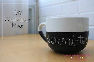 DIY CHALKBOARD MUG by: My So Called Organized Life