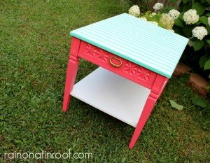 Table Makeover with Mod Podge and Wrapping Paper