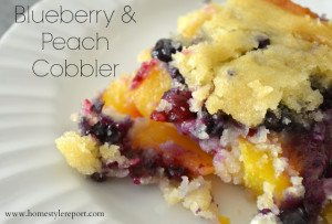 Blueberry & Peach Cobbler by: Jenn of Home Style Report