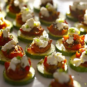 Crunchy Zucchini Rounds With Sun-Dried Tomatoes and Goat Cheese Recipe
