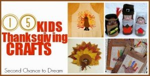 Second Chance to Dream: 15 Kids Thanksgiving Crafts 2 #kidscrafts