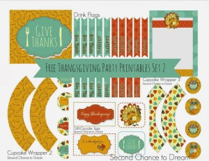 Second Chance to Dream: Free Thanksgiving Party Printables set 2 #thanksgiving # partyrpintables