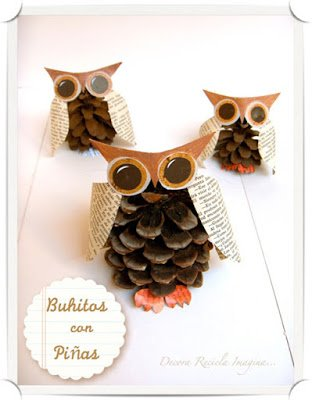 Pinecone Owls1 15 Kids Halloween Crafts 2