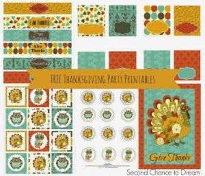 Second Chance to Dream: Free Printable Thanksgiving Party Printables #thanksgiving #partyprintables
