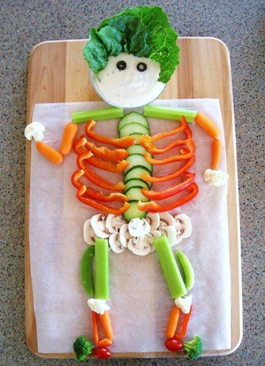 Veggie Skeleton Tray