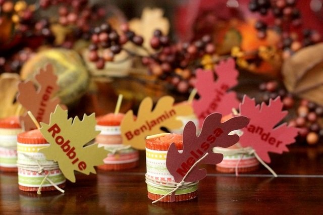 thanksgiving spool name cards