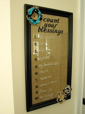 Blessings Board