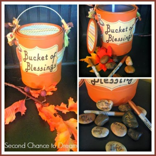 Second Chance to Dream:  Bucket of Blessing Tutorial  #Gratitude #Thanksgiving #traditions