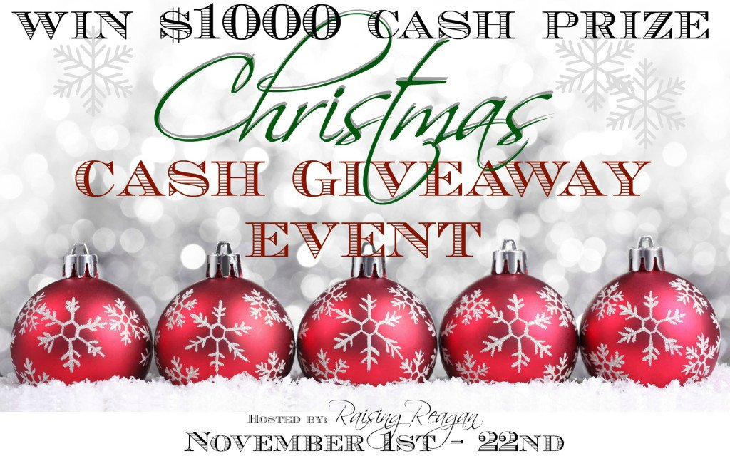 Raising Reagan | Win $1000 in the Christmas Cash Giveaway Event