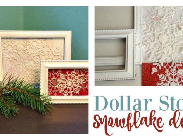 Second Chance to Dream; Dollar Store Snowflake Art #dollarstore #DIY #snowflake
