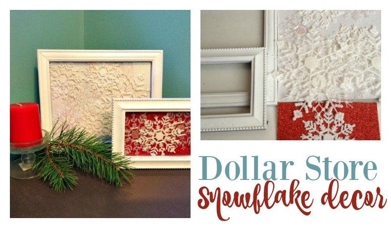 Second Chance to Dream; Dollar Store Snowflake Art #dollarstore #DIY #snowflake