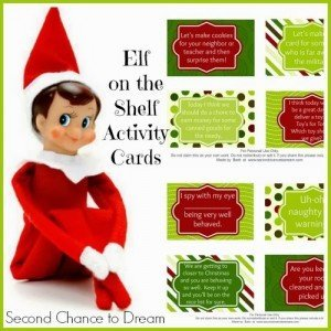 Second Chance to Dream: Elf on the Shelf Activity Cards #elfonthshelf #christmas