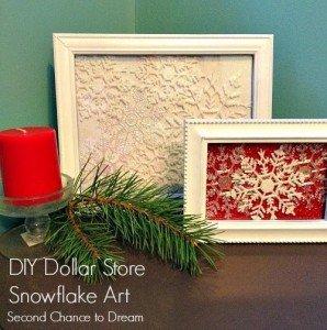 DIY Dollar Store Snowflake Decor