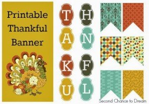 Second Chance to Dream: Thankful Banner #thanksgiving #freeprintablebanner
