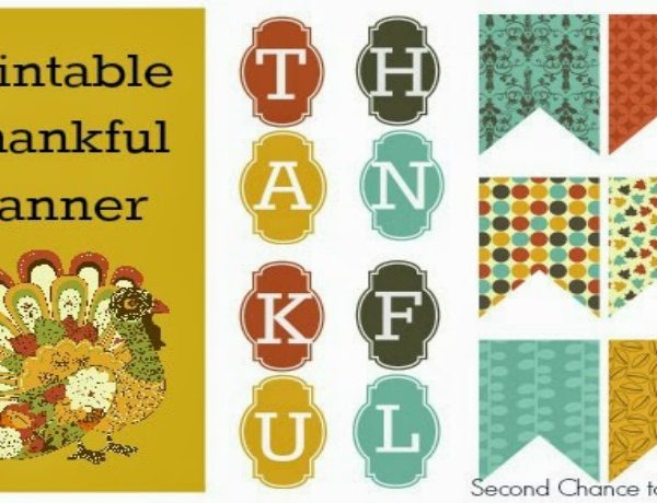 Second Chance to Dream: Printable Thankful Banner #Thanksgiving