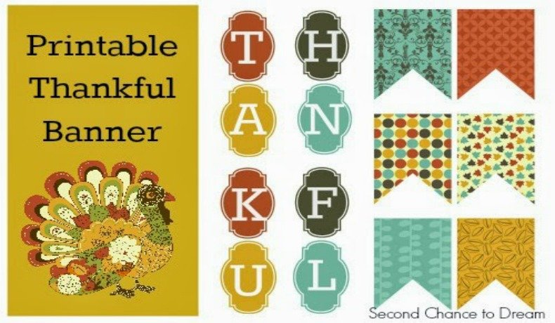 picture regarding Printable Thanksgiving Banner titled Minute Likelihood In the direction of Desire - Printable Grateful Banner