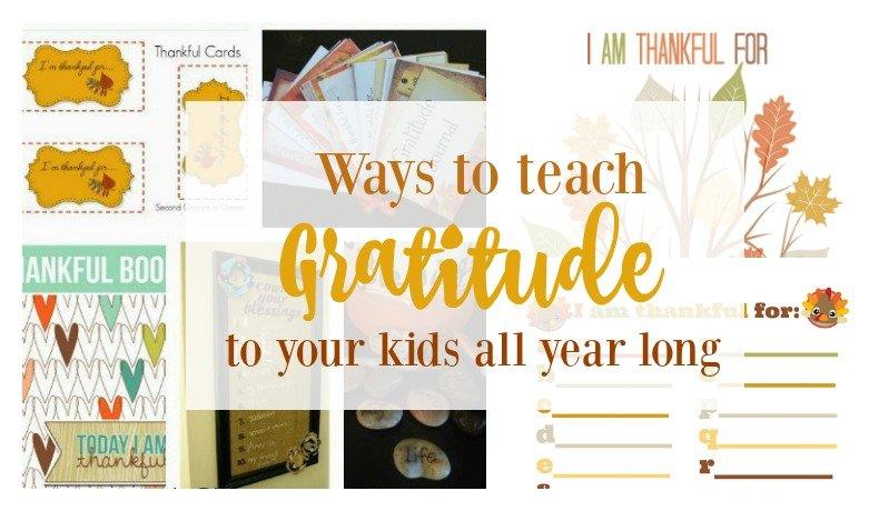 Second Chance to Dream: Ways to teach gratitude