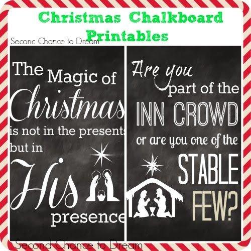 Second Chance to Dream:Christmas Chalkboard Printables #freeprintables
